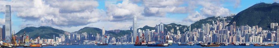 全景的香港 免版税库存图片