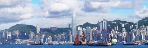 全景的香港 库存照片