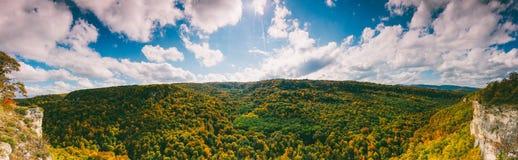 全景秋天的横向 库存照片