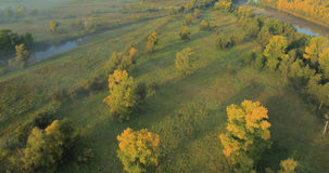 全景秋天的横向 影视素材