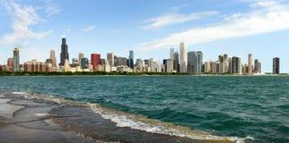 全景芝加哥 芝加哥摩天大楼 免版税库存图片