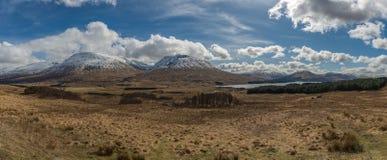 全景苏格兰高地苏格兰,英国 库存图片