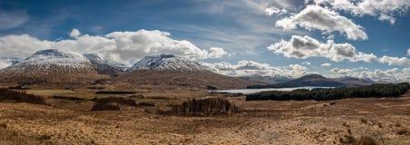 全景苏格兰高地苏格兰,英国 免版税库存图片