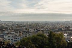 全景蒙马特远景在10月下旬 库存图片