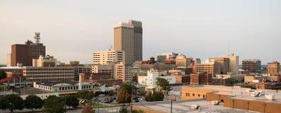 全景街市奥马哈内布拉斯加市地平线 库存图片