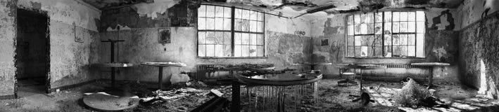 180全景被放弃的室 免版税库存照片