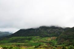 全景观点在,北部泰国的湄宏顺府 免版税库存照片