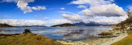 全景视图在火地群岛国家公园,巴塔哥尼亚,阿根廷 库存照片