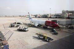 全景视图帕尔马机场, 08 07 2017年帕尔马,西班牙 库存图片