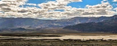 全景视图死亡谷,加利福尼亚,美国 图库摄影
