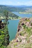 全景视图水坝 库存图片