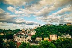 全景视图Kyiv,乌克兰风景 库存图片