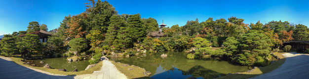 全景视图Ninnaji寺庙在京都。 免版税库存图片