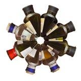 酒瓶。 免版税库存图片
