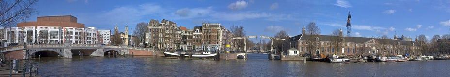 全景阿姆斯特丹的cityview 库存照片
