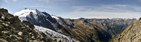 全景阿尔卑斯视图 库存照片