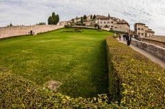 全景阿西西(意大利) 免版税图库摄影