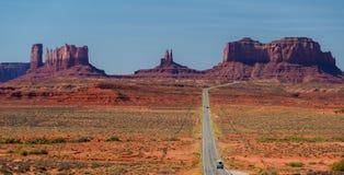 全景风景纪念碑谷的风景 库存照片