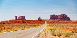 全景风景纪念碑谷的风景 库存图片