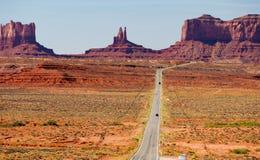 全景风景纪念碑谷的风景 免版税库存图片