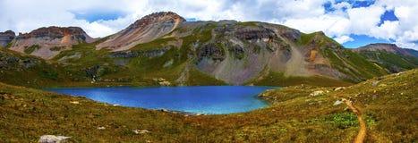 全景风景Ice湖盆地西南科罗拉多 库存图片