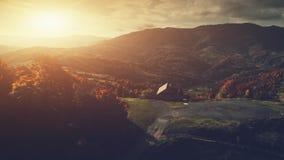 全景高地乡下风景鸟瞰图 影视素材