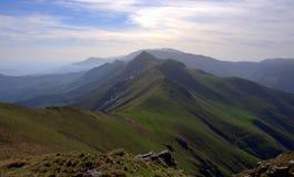 全景,中央巴尔干山脉- 库存照片