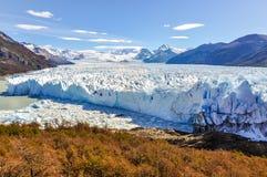 全景,佩里托莫雷诺冰川,阿根廷 库存照片