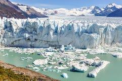 全景,佩里托莫雷诺冰川,阿根廷 库存图片