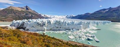 全景,佩里托莫雷诺冰川,阿根廷 图库摄影