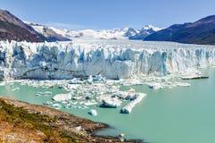 全景,佩里托莫雷诺冰川,阿根廷 免版税图库摄影