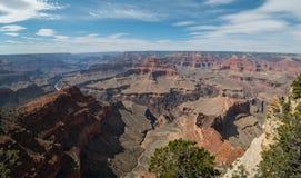 全景,大峡谷在亚利桑那 免版税库存照片