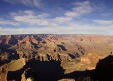 全景,黄昏视图到科罗拉多河峡谷里 图库摄影
