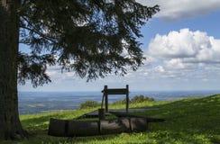 全景,从Omanovac,克罗地亚 免版税库存照片
