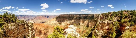 全景:管子小河视图-大峡谷,南外缘,亚利桑那, AZ 免版税图库摄影