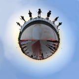 全景360度泰国纪念品雕象的7国王 库存照片