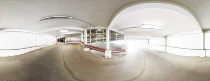 全景360度,在路的国会螺旋向多重停车处 库存照片