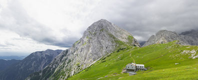 全景-斯洛文尼亚阿尔卑斯 免版税图库摄影