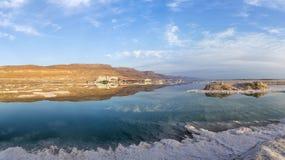 全景 以色列 死海 免版税库存照片
