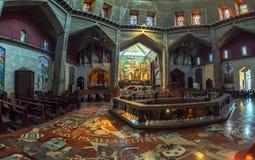 全景-教会通告,拿撒勒内部  免版税库存图片