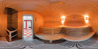 全景360里面蒸汽浴浴 库存照片