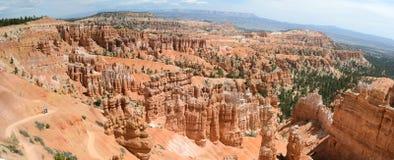 全景bryce的峡谷 库存图片
