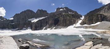 全景Grinnell的冰川-冰川国家公园 免版税库存照片