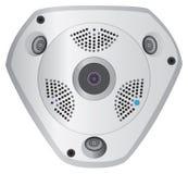 全景IP照相机 库存例证