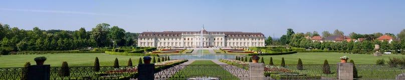 全景ludwigsburg的宫殿 免版税库存图片