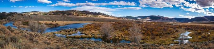全景Platt的河 库存照片