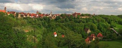 全景rothenburg 库存图片