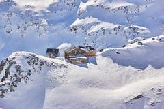 全景Stubai冰川 免版税库存图片