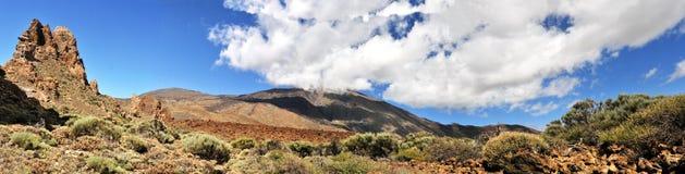 全景teide火山 免版税图库摄影