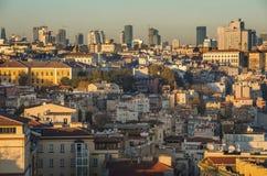 全景theold零件(Ortakoy)的伊斯坦布尔,土耳其 库存图片